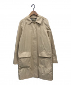 BURBERRY LONDON(バーバリー ロンドン)の古着「ノヴァチェックフード付きステンカラーコート」|ベージュ