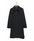 ()の古着「ウールステンカラーコート」 ブラック