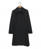 BROOKS BROTHERS(ブルックスブラザーズ)の古着「ウールステンカラーコート」|ブラック