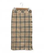 BURBERRY LONDON(バーバリー ロンドン)の古着「ノヴァチェックラップスカート」|ベージュ