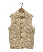 INVERALLAN(インバーアラン)の古着「アランニットベスト」|ホワイト