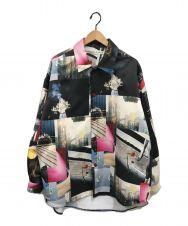 Soe (ソーイ) プリントオーバーサイズシャツ マルチカラー サイズ:1