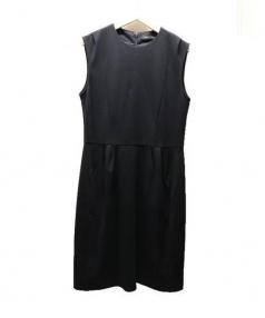 YOKO CHAN(ヨーコチャン)の古着「ノースリーブワンピース」 ブラック