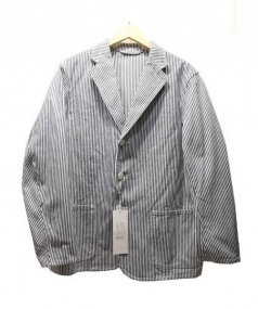 COMOLI(コモリ)の古着「コットンツイルジャケット」|ホワイト×グレー