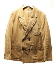 elephant blanc(エレファンブラン)の古着「帆布+カツラギ×硫化染ダブルジャケット」|ブラウン