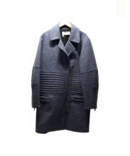 DEREK LAM 10 CROSBY(デレクラムテンクロスビー)の古着「ウールジップコート」|ネイビー