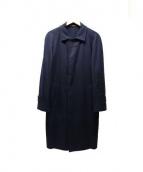SOVEREIGN(ソブリン)の古着「カシミヤ比翼コート」|ネイビー