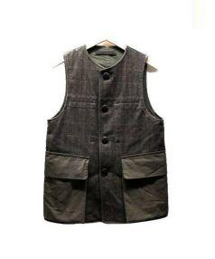 NIGEL CABOURN(ナイジェルケーボン)の古着「ワックスコットンツイードベスト」|ブラウン
