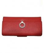 BVLGARI(ブルガリ)の古着「フラップ長財布」|レッド