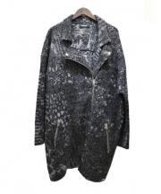 DIESEL(ディーゼル)の古着「ロングダブルライダースジャケット」 ブラック