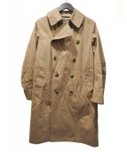 LE GLAZIK(ル・グラジック)の古着「ギャバジントレンチコート」|ベージュ
