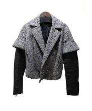 DSQUARED2(ディースクエアード)の古着「切替レザージャケット」|グレー