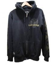 CHROME HEARTS(クロムハーツ)の古着「サーマルダガージップパーカー」|ブラック