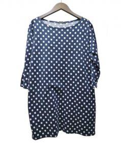 marimekko(マリメッコ)の古着「カットソーワンピース」|ネイビー