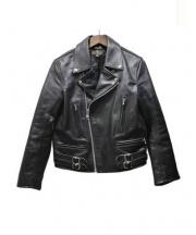 FASTLANE(ファストレーン)の古着「レザージャケット」|ブラック