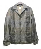 ts(s)(ティーエスエス)の古着「ウールチェック3Bジャケット」 グレー