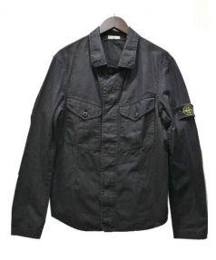 STONE ISLAND(ストーンアイランド)の古着「OLD加工ジップアップミリタリージャケット」|ブラック