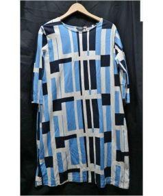 marimekko(マリメッコ)の古着「カットソーワンピース」|ブルー