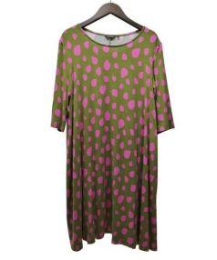 marimekko(マリメッコ)の古着「カットソーワンピース」|グリーン×ピンク