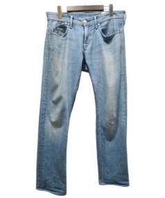 YANUK(ヤヌーク)の古着「スリムテーパードデニムパンツ」|インディゴ