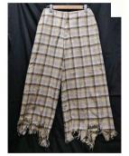 FACETASM(ファセッタズム)の古着「FRINGE PANTS 」|ベージュ