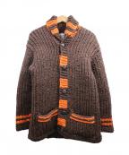 KANATA(カナタ)の古着「カウチンニットカーディガン」 ブラウン