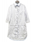 LOUIS VUITTON(ルイ・ヴィトン)の古着「シャツワンピース」 ホワイト×ブルー
