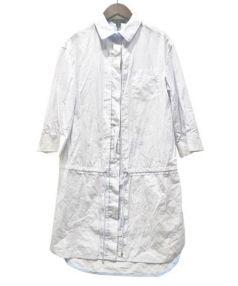 LOUIS VUITTON(ルイ・ヴィトン)の古着「シャツワンピース」|ホワイト×ブルー