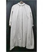 mina perhonen(ミナペルフォネン)の古着「matineeシャツドレス」 ライトベージュ