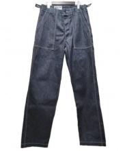 Engineered Garments WORKADAY(エンジニアードガーメンツ)の古着「Indigo Heavy Denim Fatigue Pan」|ネイビー