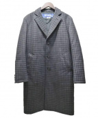 CDG JUNYA WATANABE MAN(コムデギャルソン ジュンヤワタナベ)の古着「エルボーパッチチェスターコート」|ダークグレー
