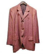 YohjiYamamoto pour homme(ヨウジヤマモトプールオム)の古着「千鳥格子テーラードジャケット」 レッド×ブラック