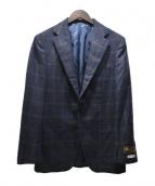 SOVEREIGN(ソブリン)の古着「チェック2Bジャケット」|ネイビー