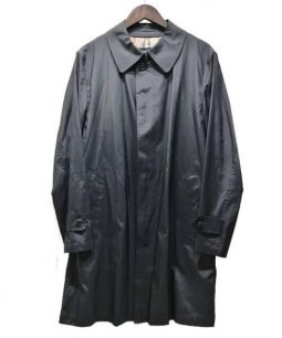 BURBERRY LONDON(バーバリーロンドン)の古着「ナイロンステンカラーコート」 ブラック