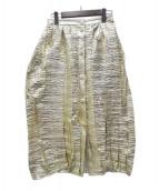 TARO HORIUCHI(タロウホリウチ)の古着「シャイニースカート」 ゴールド