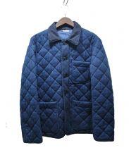 BLUE BLUE(ブルーブルー)の古着「サシコダイヤキルト カバーオール」|ネイビー