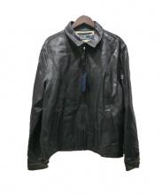POLO RALPH LAUREN(ポロ バイ ラルフローレン)の古着「ヴィンテージ加工ライダースジャケット」|ブラック