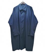 132 5.ISSEY MIYAKE(イチサンニーゴーイッセイミヤケ)の古着「ステンカラーコート」|ネイビー