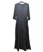 SINME(シンメ)の古着「ドットロングワンピース」 ブラック