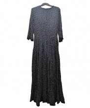 SINME(シンメ)の古着「ドットロングワンピース」|ブラック