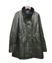CIVIDINI(チヴィディーニ)の古着「オリラグAラインコート」|グリーン