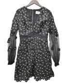 SELF PORTRAIT(セルフポートレート)の古着「フローラルパーティードレス」|ブラック
