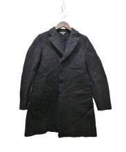 COMME des GARCONS(コムデギャルソン)の古着「スナップボタンウールフェルトコート」|ブラック