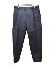 KOLOR(カラー)の古着「ウールコットンダブルフェイスボンディングテーパードパンツ」|ネイビー