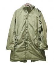 N.MASAKI COLORS(エヌマサキ カラー)の古着「製品染めモッズコート」|オリーブ