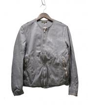 A VONTADE(ア ボンタージ)の古着「ノーカラーライダースジャケット」|グレー