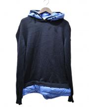 MONCLER(モンクレール)の古着「ニットダウンプルオーバーパーカー」|ブラック