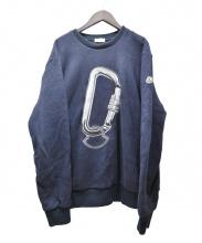 MONCLER(モンクレール)の古着「カラビナ刺繍スウェット」|ネイビー