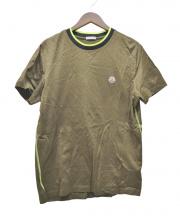 MONCLER(モンクレール)の古着「スモールロゴTシャツ」|カーキ