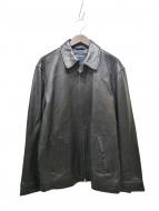 NAUTICA(ノーティカ)の古着「レザージャケット」|ブラック